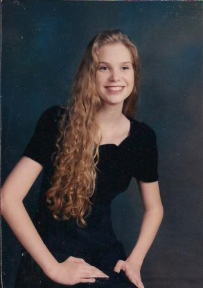 Me in high school (in a very weird pose)